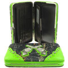Western Cowgirl Camo Revolver Guns Flat Wallet Clutch Purse Camouflage (green) scarlettsbags,http://www.amazon.com/dp/B00F3JA2VU/ref=cm_sw_r_pi_dp_6yrIsb173NZZYZSM