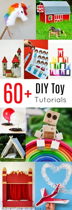 Over 60 DIY tutorials of handmade toys for kids you can build at home. Wooden toy patterns, printable paper toys, and handmade toys from recyclables - this is the list of our favourite projects to make for kids.