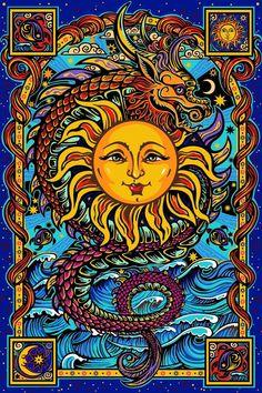 Dragon Sun - Tapestry