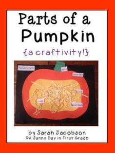 Free 10/18!!! Parts of a Pumpkin craftivity