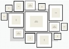 ikea ribba gallery wall layout 2 excel wall How To: IKEA Ribba Frame Gallery Wall Gallery Wall Layout, Gallery Wall Frames, Gallery Walls, Frames On Wall, Photo Wall Hanging, Muebles Shabby Chic, Frame Layout, Ikea Living Room, Ribba Frame