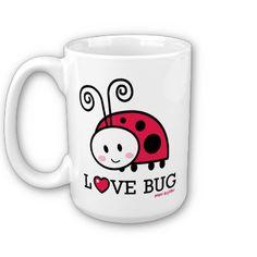 Love Bug Kawaii Ladybug Mug by Paper*Glitter