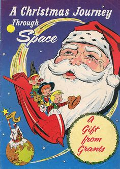 A Christmas Journey Through Space vintage comic