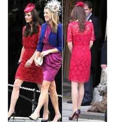 Red Lace Dresses and More... Ok just had to pin it. I love Kate Middlton's classic style