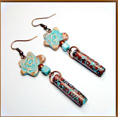 premo! Accents Tube Bead Earrings polymer clay tutorial from Sculpey