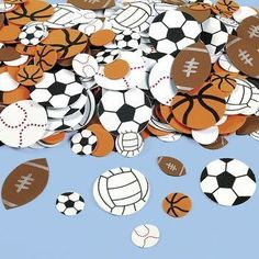 Kids' Paper Craft Kits - Fun Express Fabulous Foam SelfAdhesive Sport Ball Shapes  500 Pieces *** You can find out more details at the link of the image.