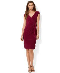 American Living Cap-Sleeve Ruffled Dress - Dresses - Women - Macy's