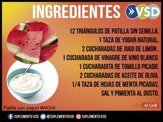 Roja por dentro, verde por fuera… aunque no rime, la patilla es el principal ingrediente de esta receta que acompañada con yogurt y #algrill sabe mucho mejor. Revisa los ingredientes y la preparación.