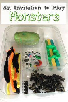 Monster Play Dough: Invitation to Play - Crafts on Sea