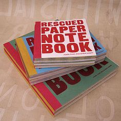 Rescued Paper Notebook - stationery