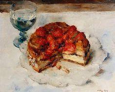 Cake oil painting still life  Walter Vaes (1882 - 1958)