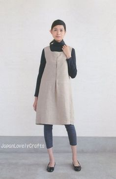 Simple Japanese Style Dress, Aoi Koda, Japanese Sewing Pattern Book for Women…