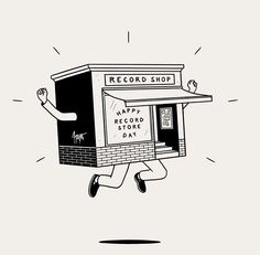 Happy Record Store Day by Matt Blease Coloré, double sens, abstraction, folie, insouciance. Mood board créé par On n'a rien volé https://popmontreal.com/fr/artistes/detail/on-na-rien-vole/?volet=puces-pop Colourful, double meaning, abstract, lunacy, recklessness. Mood board created by On n'a rien volé https://popmontreal.com/en/artists/detail/on-na-rien-vole/?volet=puces-pop