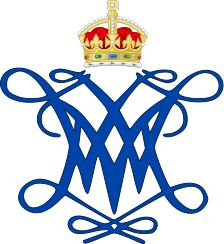 Royal Monogram of King William and Queen Mary of Great Britain
