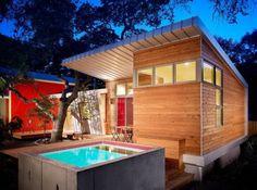 Monroe Street House - modern - exterior - austin - Clayton&Little Architects Small Swimming Pools, Small Backyard Pools, Small Pools, Swimming Pool Designs, Small Backyards, Small Pool Design, Spa Design, House Design, Design Ideas