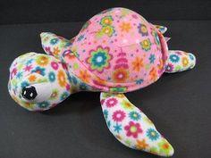 "12"" FLOWER SEA TURTLE Soft Fleece Plush Stuffed Animal NEM Toy B259"
