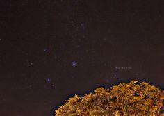 Céu estrelado no interior de São Paulo