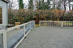 Backyard Dog Area, Backyard Fences, Dog Run Fence, Garden Structures, Outdoor Structures, Outdoor Fencing, Martha Stewart Blog, Dog Yard, Building A Fence