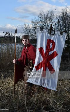 Eddie Sloan playing a Roamn guard poses for a portrait as the re-enactment of the landing of Saint Patrick on Irish shores takes place at Inch Abbey on March 12, 2017 in Downpatrick, Northern Ireland. The Irish annals for the fifth century date Patrick's arrival in Ireland at 432 and the patron saint of Ireland's remains are believed to buried at Down Cathedral. Saint Patrick's Day itself is celebrated around the world on March 17.