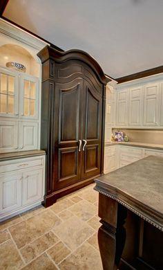 Wood Panel Refrigerator Kitchens Pinterest