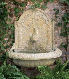Wall Fountain Outdoor yard – antique french wall lavabo. wonderful antique french wall