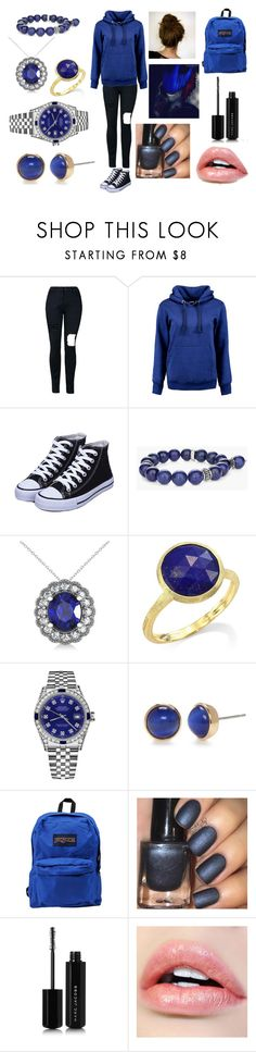 """Eyeless Jack"" by kaylamoraled ❤ liked on Polyvore featuring Boohoo, Chico's, Allurez, Marco Bicego, Rolex, Kate Spade, JanSport and Marc Jacobs"