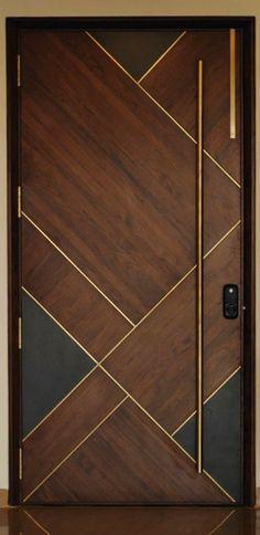 ideas main door design modern decor for 2019 Main Entrance Door Design, Wooden Main Door Design, Wooden Ceiling Design, House Main Door Design, Flush Door Design, Modern Entrance Door, Main Gate Design, House Entrance, Entrance Doors
