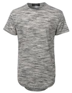 This lightweight short sleeve longline t-shirt is simple yet modern. Wear this short sleeve t-shirt for outdoor activities or when running errands. Its lightweight and soft material will give you all-