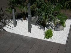 décoration jardin mineral