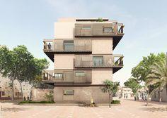 """Diseñado por Estudio UNTERCIO, Miel Arquitectos. De acuerdo con su objeto social de """"promover viviendas de precio asequible para atender las diferentes necesidades sociales de Barcelona"""", el..."""