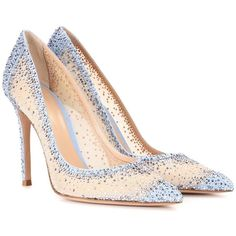 Gianvito Rossi Rania Crystal-Embellished Pumps (7 155 PLN) ❤ liked on Polyvore featuring shoes, pumps, heels, взуття, beige, gianvito rossi pumps, heel pump, beige pumps, gianvito rossi and gianvito rossi shoes