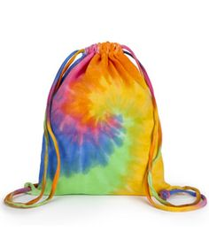 Tie Dye Drawstring Rucksack Backpack School/Beach/Festival ...
