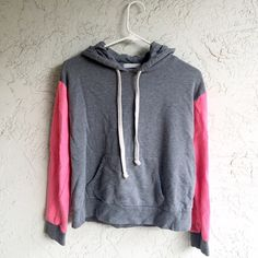 Color Block Hoodie Good used condition! Only flaw is there was a small rip in the front pocket but it was sown back up. Hardly noticeable. Photos show.  ❤️MAKE AN OFFER IF YOU DONT LIKE THE PRICE! Use the offer button please.   ❌Don't ask me lowest, don't ask for free shipping, don't ask to trade, don't lowball.  Ships next day unless purchased on a Saturday or Holiday Sweaters