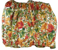 Fall Harvest print extra-large Bird Cage Skirt Guard with elastic and a velcro closure. - NatureChest.com