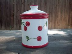 Vintage Cherry Canister by smallsmp8 on Etsy, $14.00