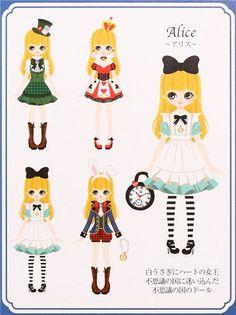 Alice in Wonderland dress up doll puffy sponge stickers 4