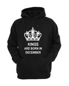 KINGS ARE BORN IN DECEMBER HOODIE GREAT BIRTHDAY GIFT PRESENT HOODIE #Gildan #Hoodie Great Birthday Gifts, Active Wear, December, Hoodies, Ebay, Clothes, Fashion, Outfits, Moda