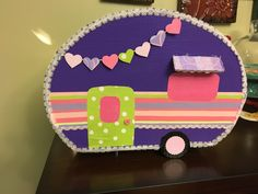 Camper valentine box Valentine Boxes For School, Valentine Ideas, Valentines Day, Happy Campers, Awesome Stuff, Bulletin Boards, To My Daughter, Craft Ideas, Crafty