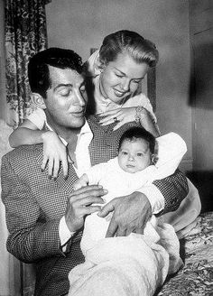 Here's Dino with his wife # 2 Jeanne and their baby Ricci. Description from coolnessistimeless.blogspot.com. I searched for this on bing.com/images