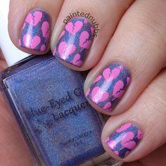 Painted Nubbs: Twinkie Nail Art Challenge February Week1: Hearts