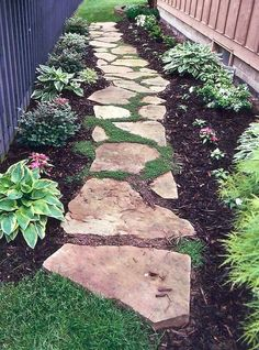 Diy project inspiration - 55 stone walkway for backyard and frontyard 33