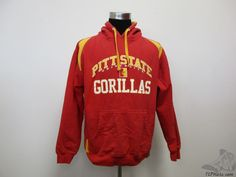 Cotton Gallery Pittsburgh Pitt State Gorillas Hoody Sweatshirt sz L Large Red #CottonGallery #PittsburgStateGorillas