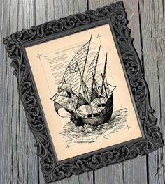 love the idea of using cute frames and then framing different old looking photos/prints of nautical stuff like ships, whales, octopus, etc. Use a cute but different frame for each one and maybe even paint the frames all different colors. Irish Pub Decor, Pub Design, Cute Frames, Whales, Octopus, Oasis, Vintage Art, Different Colors, Nautical