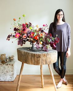 Flower Magazine- fall out with Joy Thigpen, freestyle autumnal arrangement