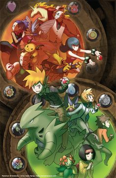 Kanto League Gym Leaders by slimu.deviantart.com on @deviantART