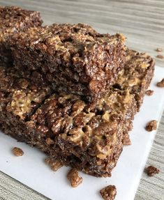 Cocoa Krispie Treats With Peanut Butter: A Rice Krispie Treat? What? Just plain, no chocolate? Why on Earth would anyone want to eat one of those?