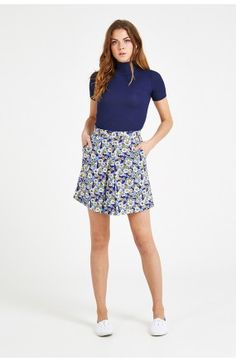 Louche Dayana Floral Front Pleat Skirt