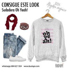 UN BUEN LOOK PARA LA SEMANA. Sudadera en gris OH YEAH! con unos vaqueros, playeros y un toque con un fualar. IDEAL, ¿qué os parece? fashion #love #calaveras #rayas #sudaderas #tshirt #camisetas #tiendasconencanto #instanfashion #asturias #follow #instanlife #outfitpost #happy #happylife #style #look #currentlywearing #tiendasconencanto #trendy #moda #trendylook #chic #instagrammers #stylist #trendy #casual #instancool #instanlover #newlook #asturiastademoda #topshop