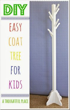{diy} Coat Tree For Kids