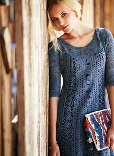 summer shirt crochet more patters (for women) - crafts ideas - crafts for kids Crochet Yoke, Crochet Cardigan, Irish Crochet, Hand Crochet, Crochet Patterns, Dress With Cardigan, Knit Dress, Lace Dress, Irish Lace